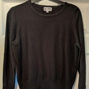 Simple classic black sweater